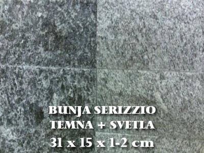 Bunja serizzio - svetla plus temna