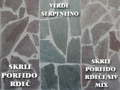 SKRLE PORFEIDO, SERPENTINO