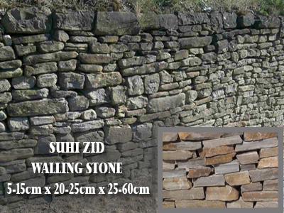 Suhi zid - različne dimenzije
