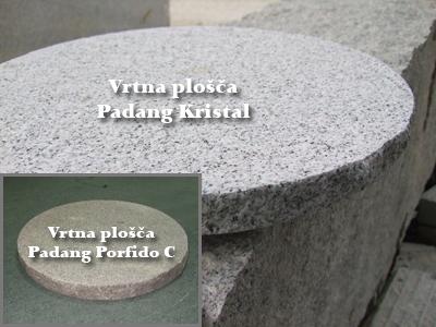 Vrtne plošče - Padang Kristal, Pordido C